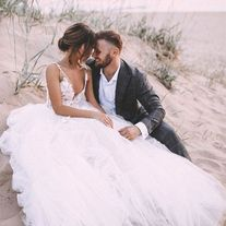 Romantic A-Line Scoop Neck Ivory Lace Spring Wedding Dress Bridal Gown sold by Anniebride on Storenvy Tulle Skirt Wedding Dress, Outdoor Wedding Dress, Cheap Wedding Dress, Boho Wedding Dress, Lace Wedding, Tulle Lace, Prom Dresses, Evening Dresses, Wedding Bells