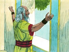 Samuel led and advised the people of Israel according to God's laws. He would always ask God what he should do. When he grew old he appointed his sons Joel and Abijah as the new leaders. – Slide 1
