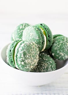 snow-dusted macaroons.