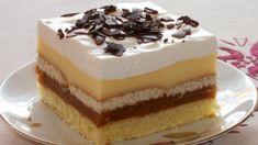 FOTORECEPT: Jablkové rezy so šľahačkou Flan, Vanilla Cake, Tiramisu, Cheesecake, Food And Drink, Pudding, Cooking Recipes, Ethnic Recipes, Gardening