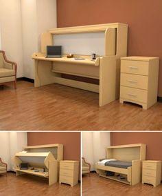 """Convertible Desk Bed - """"Hidden Bed"""""""