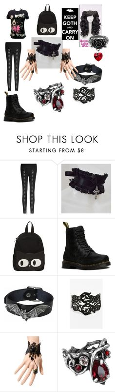 """Random Outfit #11"" by shadowcloak ❤ liked on Polyvore featuring Dr. Martens, Robert Rose, WithChic and Council"