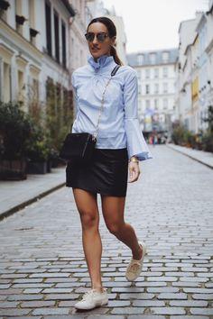 La Revue de Kenza : Leather skirt + Blouse