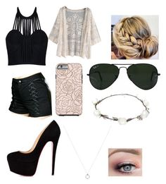 """Untitled #464"" by emmy4679-is-fandomobsessed ❤ liked on Polyvore featuring Posh Girl, Tripp, Ray-Ban and Lipsy"