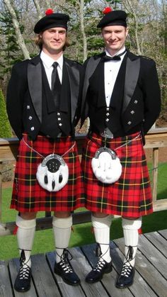 Handsome kilts in Wallace tartan