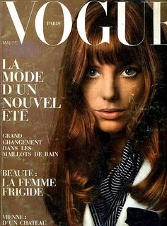 Jane Birkin, Vogue Paris, May 1969.  Originally conceived of the Birkin Bag from a tote purchased in a tropical straw market.