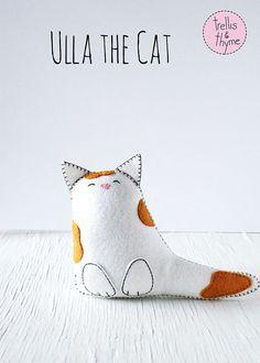 PDF Pattern  Ulla the Cat Felt Softie Pattern by sosaecaetano