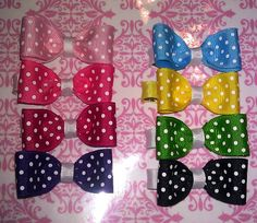 Hairbows  www.littlenenadesigns.com   bow tie hairbow- $2