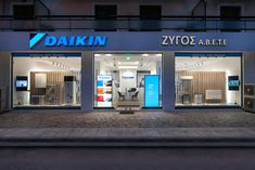 Daikin Hellas's new retail concept was conceived through a creative problem solving process & strategic analysis, yielding a unique retail experience Retail Concepts, Retail Experience, Reception Areas, Showroom, Concept Art, Commercial, Electric, Characters, Display