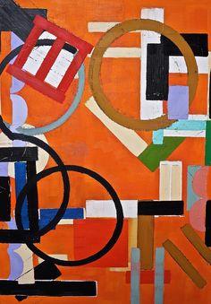 "Saatchi Online Artist: Julien Corcoran Porisse; Oil, 2013, Painting ""Orange Lyrical Composition"""