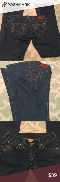 True religion jeans Great condition no holes no way are true religion jeans size 27 True Religion Jeans Flare & Wide Leg