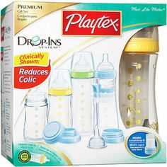 Playtex - Premium Nurser Newborn Gift Set, BPA Free: I used drop in's when Tyce was a new born, it's nice and quick for 12 bottle feedings a day when they're itty bitty, less clean up!