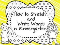 How to Stretch and Write words in Kindergarten steps in Poster form for FREE