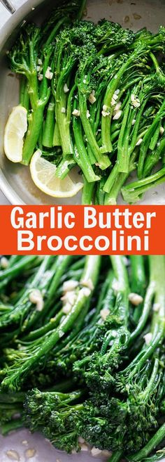 Garlic Butter Sauteed Broccolini – the easiest & healthiest broccolini recipe ever, takes only 10 mins to make. Quick, fresh, and delicious | http://rasamalaysia.com