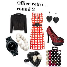 """""""Office appropriate retro - round 2"""" by beautybesties1 on Polyvore"""