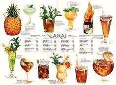 Tiki drink menu