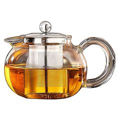 Teapot Kettle ( Can Alcohol heating or microwave heating ) - Tea Pot and Tea Strainer Set - Tea Infuser Holds 20 Ounce ( 600 ml ) *** You can find more details by visiting the image link.