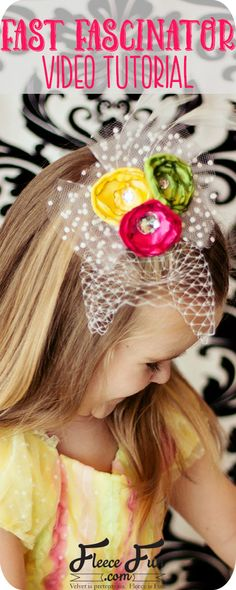 I love this cure fascinator craft!  This is the perfect hair accessory for a flower girl or pictures.  An easy DIY - such a great Idea.