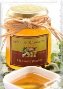 Gelée de rhubarbe à la vanille Bourbon