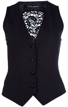 DOLCE & GABBANA ~~ Lace Detail Waistcoat. They Are Back~