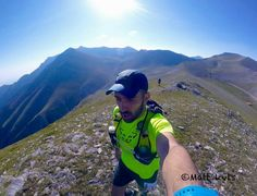 Trail running at mountain Olympus the name of the race is faethon rupicapra