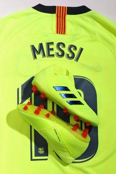 Linka la camiseta de la segunda equipación del FC Barcelona con las nuevas  adidas Nemeziz de la colección Exhibit. Brilla como Messi 🔋. a441f641e3fc2