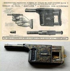 Another interesting palm pistol. Given the ornate scrollwork, im guessing this was marketed toward women as a purse pistol.