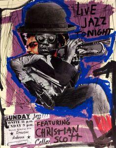 Jazz Tonight - featuring CHRISTIAN SCOTT - 2014 #jazz #poster