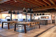 Patagonia, interior design, office, European HeadQuarters, Amsterdam, concept, design, production, visual merchandising #office #kitchen