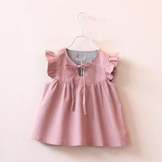 Find More Tees Information about 2016 New Cute Baby Girls Puff Sleeve Ruffles Blouse Vintage Princess Summer Spring Casual Tops,High Quality girls spring fashion,China spring swing Suppliers, Cheap spring fashion girls from Everweekend Clothing Co. Little Dresses, Little Girl Dresses, Girls Dresses, Summer Dresses, Summer Outfits, Fashion Kids, Baby Girl Fashion, Spring Fashion, Fashion Shoes