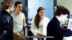 """The awkward moment when everyone in the room is in love with Sherlock. Including Sherlock."""