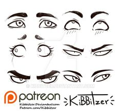 Eyes reference sheet 2 by Kibbitzer on DeviantArt