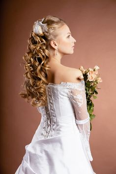 Tremendous 1000 Images About Long Curly Wedding Hairstyle On Pinterest Short Hairstyles Gunalazisus