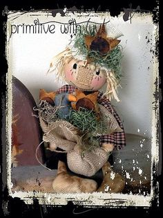 New scarecrow on ebay! :) Go to Facebook to the page Primitive with Luv! to see more! :)