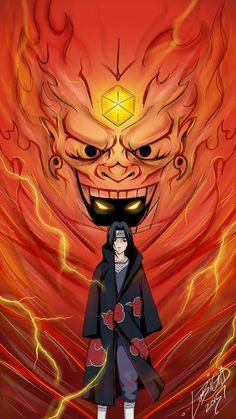 This susanoo kinda looks like hashiramas wood golem.Is'nt it possible itachi had some of indras chakra! Naruto Sharingan, Naruto Vs Sasuke, Fan Art Naruto, Anime Naruto, Madara Susanoo, Naruto Shippuden Anime, Boruto, Gaara, Photo Naruto