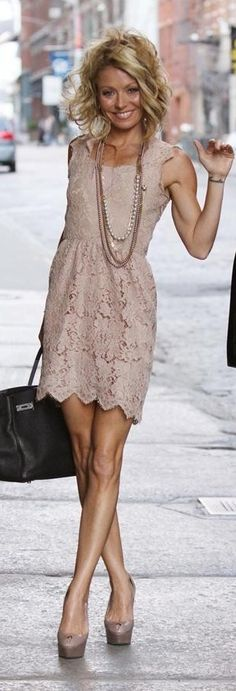 40 Top Summer 2013 Fashion Trends - Adorable lace dress with soft curls in your hair = glam!