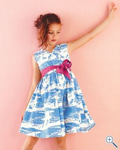 Beach design, adorable dress for little girl.