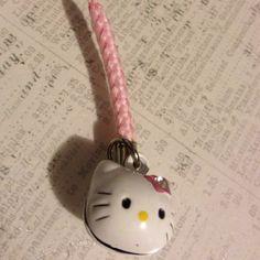 hello kitty rhinestone cell phone charm #hellokitty #cellphone #charm #strap #pink Hello Kitty Accessories