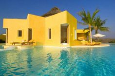 Exotic Villa With Infinity Pool And Spectacular Views In Mexico Tadelakt Design Beautiful