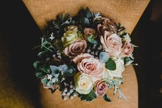 Pink and blush rose wedding bouquet. Photography by Jonny MP.