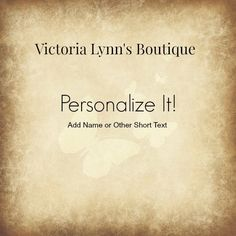 Personalize Your Purchase With a Name - Add On - Add Name - Add Date #etsy #etsymnt