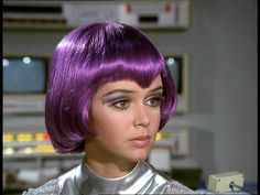 Lieutenant Gay Ellis ( Gabrielle Drake ) from the UFO television series. I will ALWAYS love women with purple bob haircuts.
