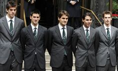 Juan Martin del Potro, Novak Djokovic, Roger Federer, Rafael Nadal and Andy Murray