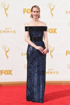 Pin for Later: See Every Star on This Year's Emmys Red Carpet! Sarah Paulson