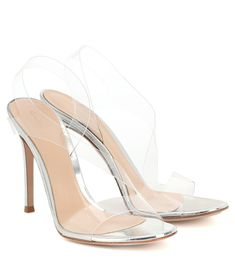 Gianvito Rossi - Metropolis 115 PVC sandals | Mytheresa Leopard Print Sandals, Glitter Sandals, Retro Outfits, Leather Sandals, Crocs, Stiletto Heels, Fashion Shoes, Espadrilles, Luxury Fashion