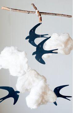 Vlaštovky a mraky