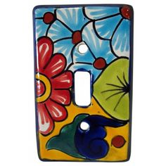 Look at these beautiful Talavera switch plates. A traditional Mexican favorite. Each one is hand painted making it a mini work of art. Since each piece is made by hand they are all different designs. The piece you receive will look slightly different than the item pictured here. Screws not included. #metalswitchplatesdecorative