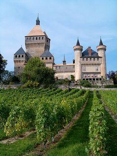 Vufflens ~ Switzerland I love this castle !!!
