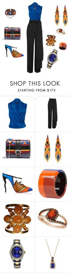 """""""Untitled #449"""" by effortless-and-natural ❤ liked on Polyvore featuring Paule Ka, Lanvin, Paula Cademartori, Forest of Chintz, Christian Louboutin, Hermès, Chanel, LE VIAN and Rolex"""