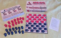 Cubs vs Cardinals CHECKERS Board GAME Baseball Helmet Rivalry Chicago Complete #RicoIndustries #Chicago #StLouis #Cubs #Cubbies #Cardinals #Checkers #Rivalry #CubsVsCardinals